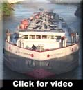 The Day Peckinpaugh motorship passes through Rochester in September of 2005.