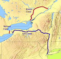 The War Of And The Erie Canal - Erie canal on map of us